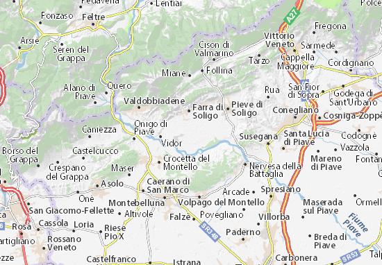 Moriago della Battaglia Map