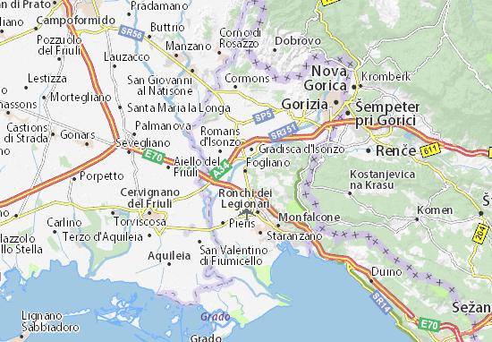 Kaart Plattegrond Fogliano
