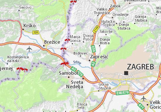 Brdovec Map