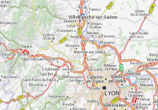 Karte Stadtplan Chazay-d'Azergues