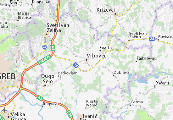 Carte-Plan Vrbovec