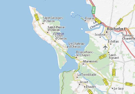 Mapas-Planos Le Château-d'Oléron