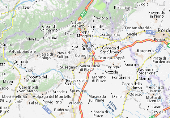 Karte Stadtplan Conegliano
