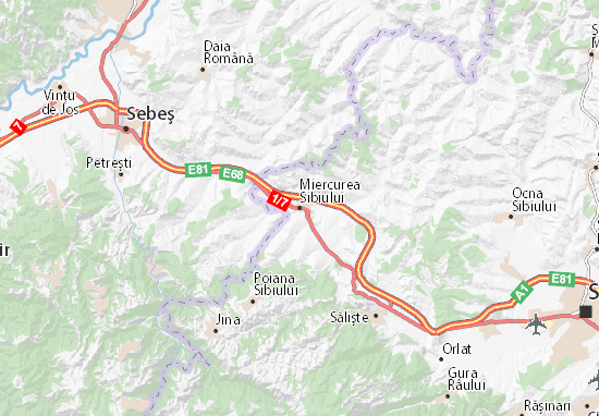Mapas-Planos Miercurea Sibiului