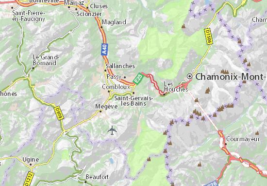 Kaart Plattegrond Saint-Gervais-les-Bains