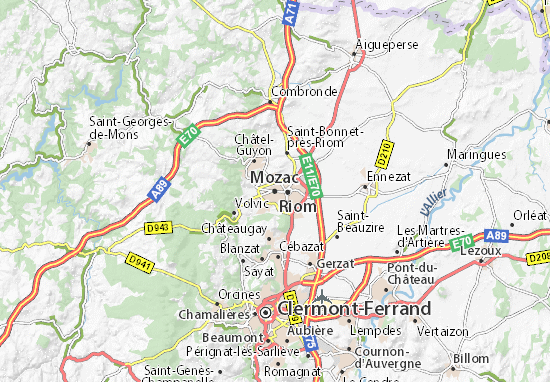 Kaart Plattegrond Mozac
