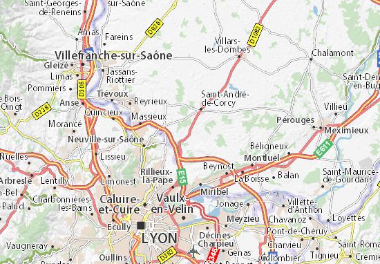 Karte Stadtplan Mionnay