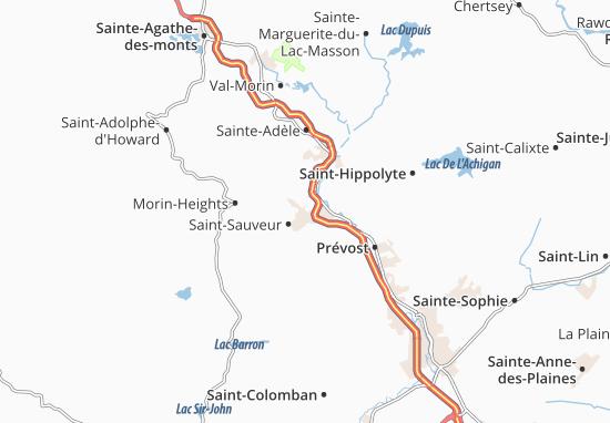 Mapas-Planos Saint-Sauveur-des-Monts