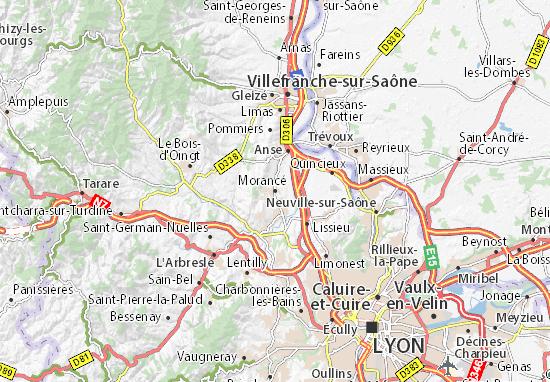 Karte Stadtplan Morancé