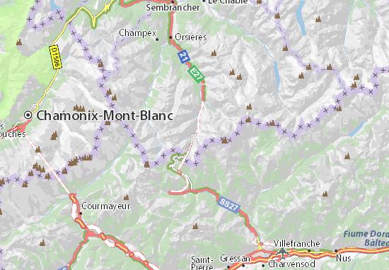 Kaart Plattegrond Tunnel du Grand Saint-Bernard