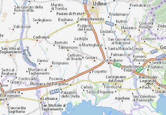 Mapas-Planos Castions di Strada