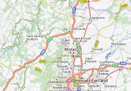 Châtel-Guyon Map