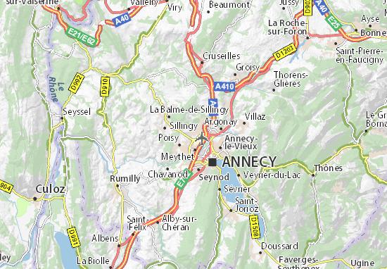 Carte-Plan Epagny Metz-Tessy