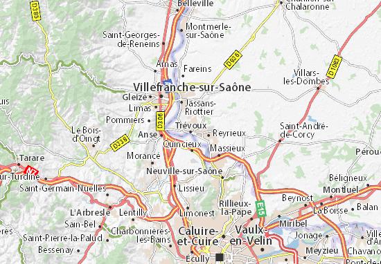 Karte Stadtplan Trévoux