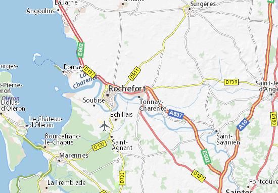 Kaart Plattegrond Tonnay-Charente