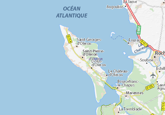 Carte-Plan Saint-Pierre-d'Oléron