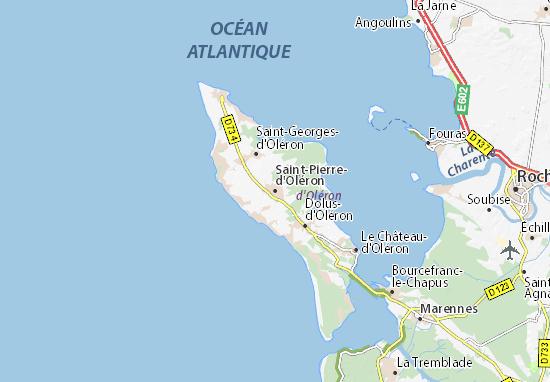 Kaart Plattegrond Saint-Pierre-d'Oléron