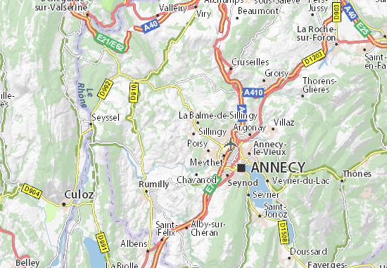 Mapa Plano Sillingy