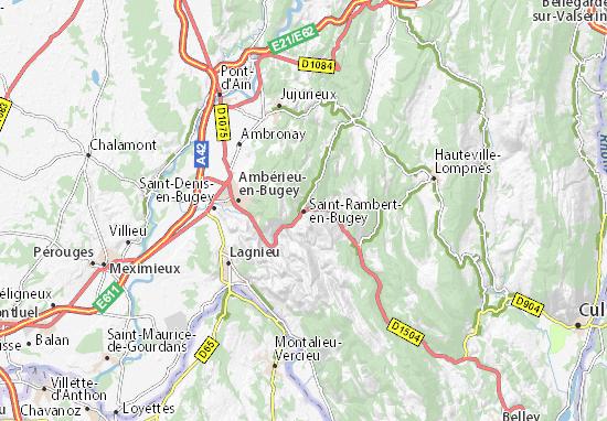 Carte-Plan Saint-Rambert-en-Bugey