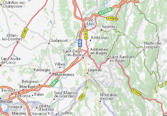 Carte Saint Denis En Bugey