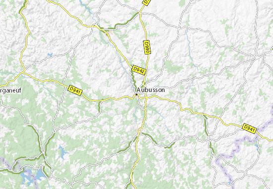 Carte-Plan Aubusson