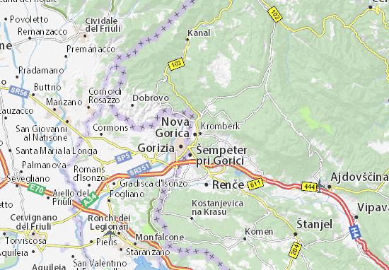 Mapa Plano Nova Gorica