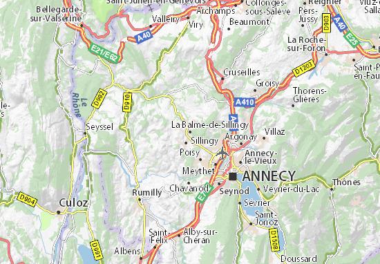 Mappe-Piantine La Balme-de-Sillingy
