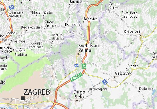 Sv. Ivan Zelina Map