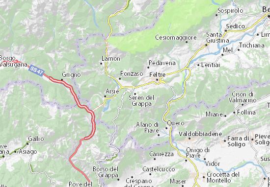 Seren del Grappa Map