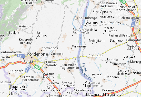 Valvasone Map