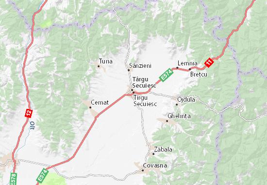 Tîrgu Secuiesc Map