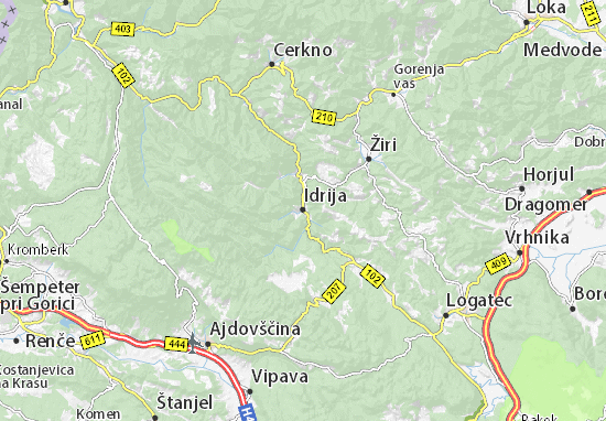Idrija Map
