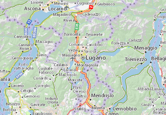 Carte-Plan Lugano