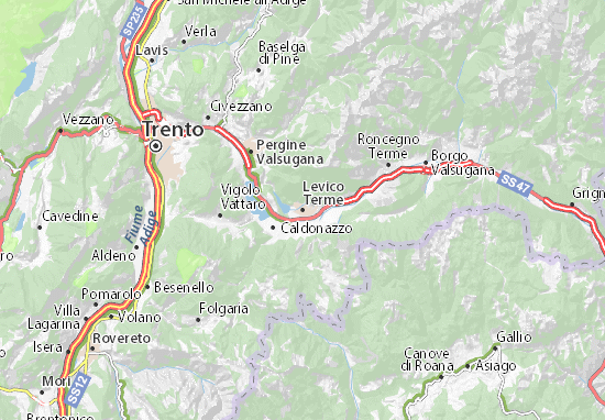 Levico Terme Map