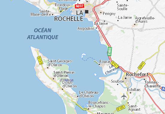 ile d aix carte Map of Île d'Aix   Michelin Île d'Aix map   ViaMichelin