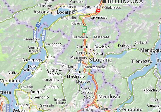 Mapas-Planos Bioggio