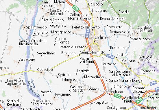 Karte Stadtplan Campoformido