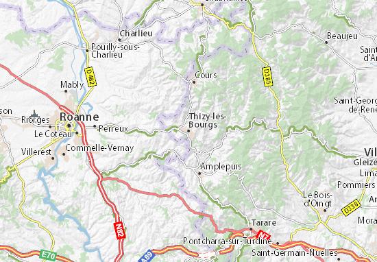 Mapa Plano Thizy-les-Bourgs