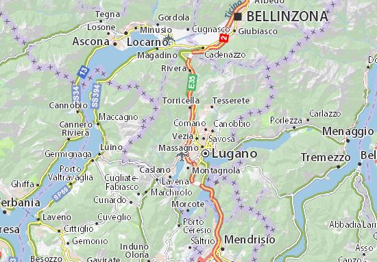 Svizzera Cartina.Mappa Manno Cartina Manno Viamichelin