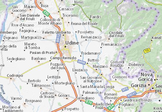 Pradamano Map