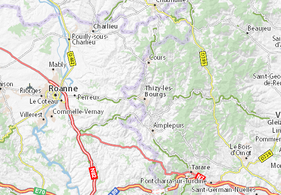 Bourg-de-Thizy Map