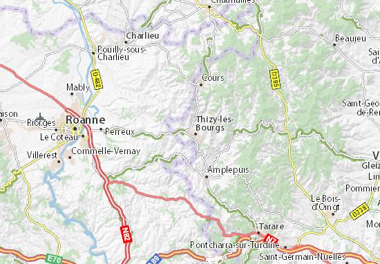 Mapas-Planos Bourg-de-Thizy