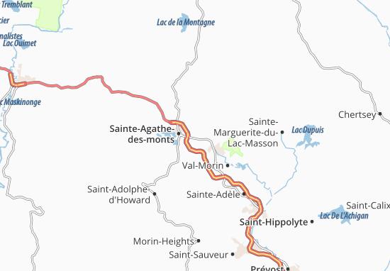 Mapas-Planos Sainte-Agathe-sud