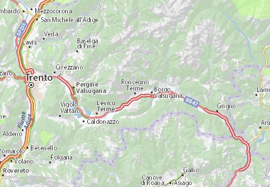 Mappe-Piantine Roncegno Terme