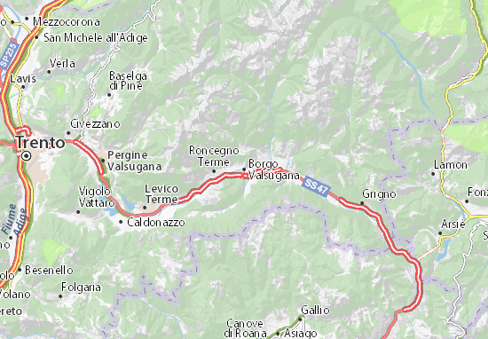 Borgo Valsugana Map