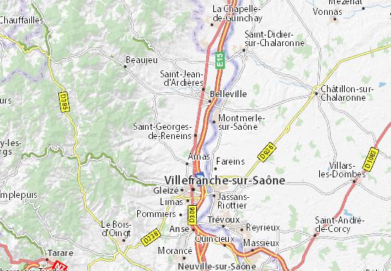 Carte-Plan Saint-Georges-de-Reneins