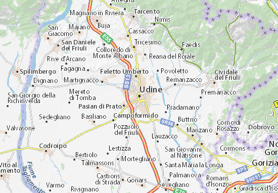 Map of Udine  Michelin Udine map  ViaMichelin