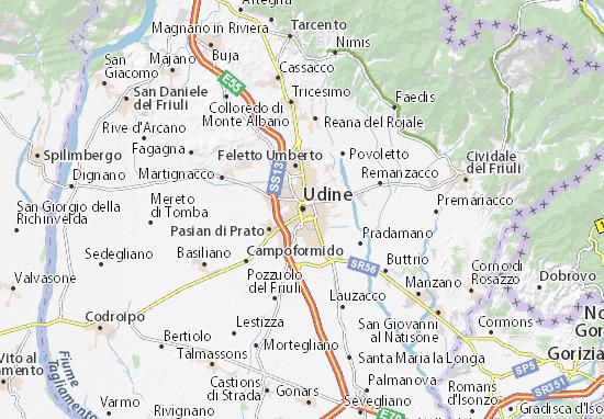 Karte Stadtplan Udine