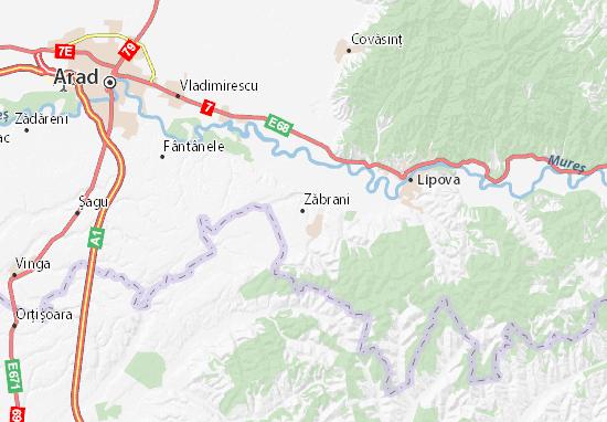 Mapas-Planos Zăbrani