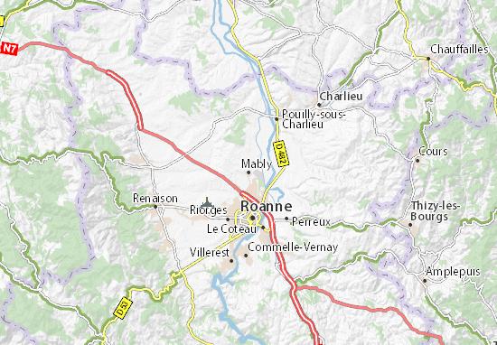 Mapa Plano Mably